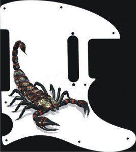 Scorpion Telecaster pickguard