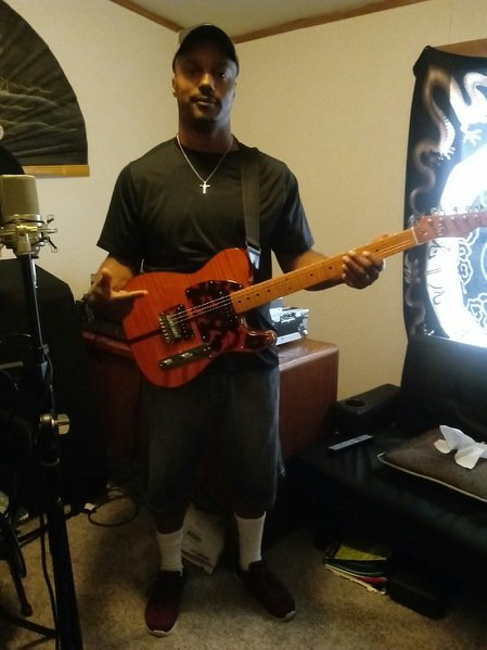 Derrick L with his new Madcat Guitar